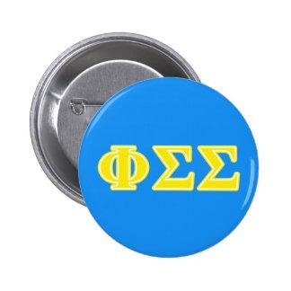 Phi Sigma Sigma Yellow Letters 6 Cm Round Badge