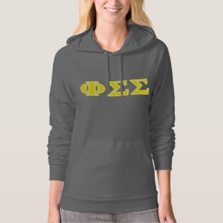 Phi Sigma Sigma Yellow Letters Hoodie