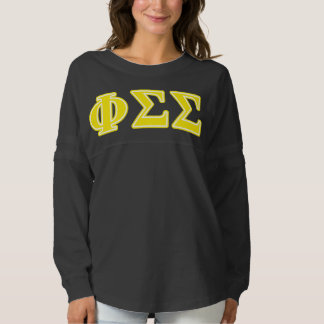 Phi Sigma Sigma Yellow Letters Spirit Jersey
