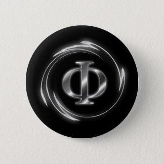 Phi symbol 6 cm round badge