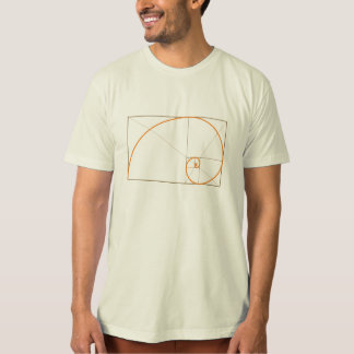 Phi, the Golden Ratio. (organic colors) T-Shirt