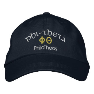 PHI-THETA  PhiloTheos Embroidered Hat