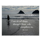 Phil. 4:13 I can do all things through Christ... Poster