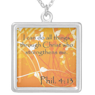 Phil. 4:13 Inspirational Necklace