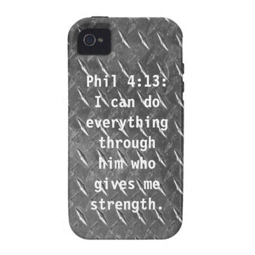 Phil 4:13: iPhone 4 Case Mate Case.