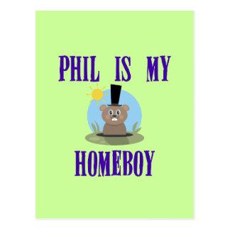 Phil is My Homeboy Postcard