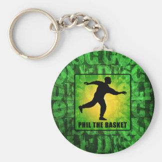 Phil The Basket Basic Round Button Key Ring