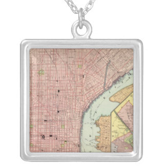 Philadelphia 5 silver plated necklace