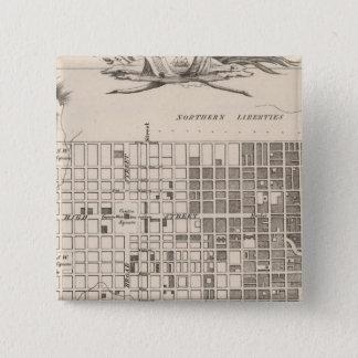 Philadelphia 6 15 cm square badge