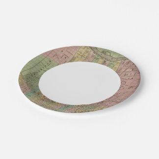 Philadelphia 6 paper plate