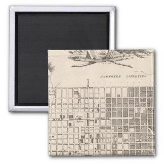 Philadelphia 6 square magnet