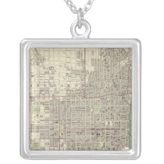 Philadelphia 8 silver plated necklace