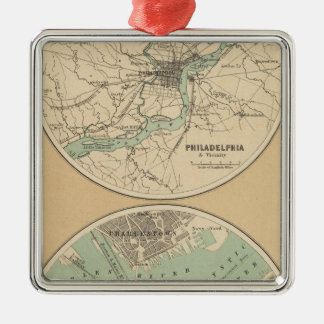 Philadelphia and Boston Christmas Ornament