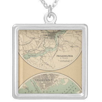 Philadelphia and Boston Silver Plated Necklace