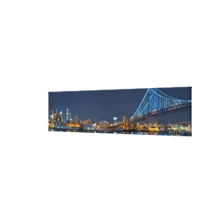 Philadelphia At Night Canvas Print