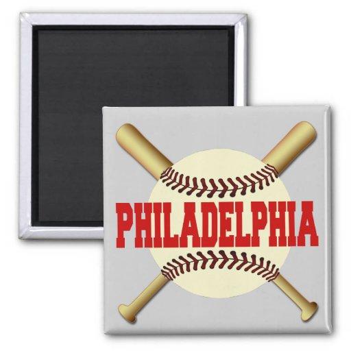 Philadelphia Baseball Square Magnet