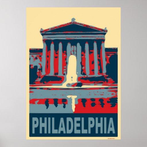 Philadelphia Blue Posters