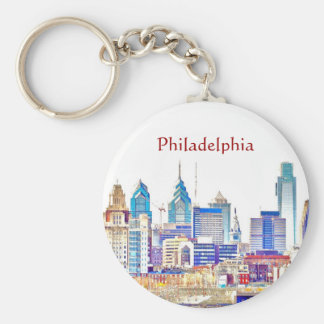Philadelphia Color Sketch Keychain