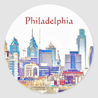 Philadelphia Color Sketch Sticker