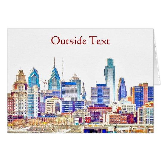 Philadelphia Colour Sketch Card