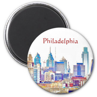 Philadelphia Colour Sketch Magnet