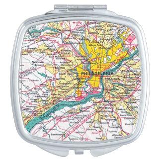 Philadelphia Compact Travel Mirror
