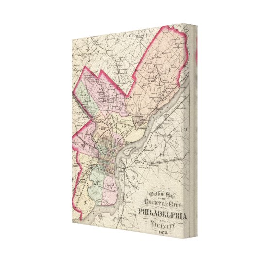 Philadelphia County, City Canvas Print
