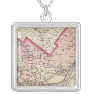 Philadelphia County, City Silver Plated Necklace