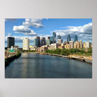 Philadelphia Daytime Skyline Poster