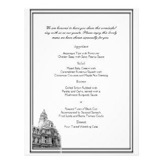 Philadelphia Destination Wedding Menu 21.5 Cm X 28 Cm Flyer