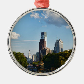 Philadelphia downtown 2 christmas ornament