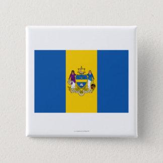Philadelphia Flag 15 Cm Square Badge