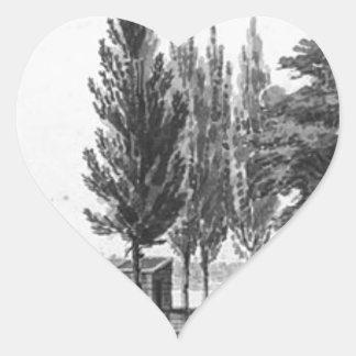Philadelphia from across the Delaware River Heart Sticker