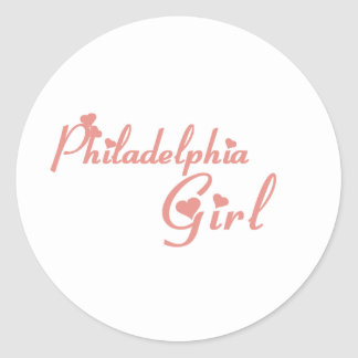 Philadelphia Girl tee shirts Classic Round Sticker