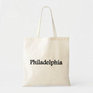 Philadelphia - Grey Letters - On White