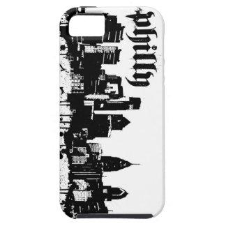 philadelphia grunge skyline iphone 5 case
