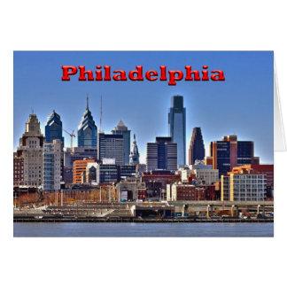 "Philadelphia ""HDR"" Skyline Card"