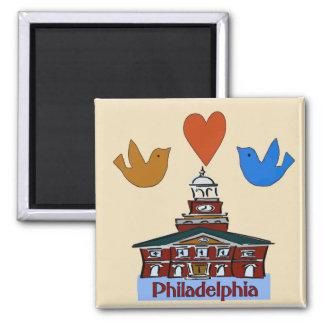 Philadelphia Heart Bird Colonial Independence Ha Refrigerator Magnet