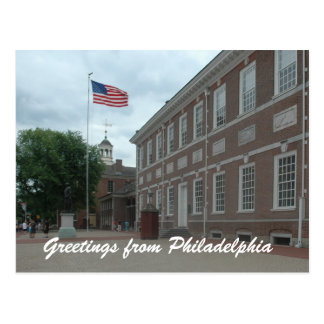 Philadelphia Independence Hall Postcard