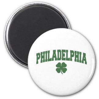 Philadelphia (Irish Shamrock) 6 Cm Round Magnet