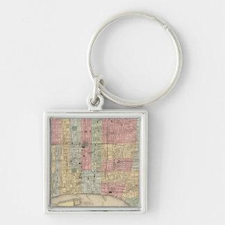 Philadelphia Map by Mitchell Key Ring