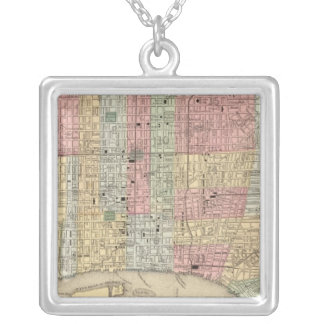Philadelphia Map by Mitchell Silver Plated Necklace