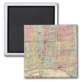 Philadelphia Map by Mitchell Square Magnet