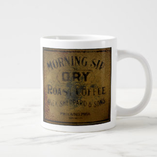 Philadelphia Morning Sip Vintage Sign Large Coffee Mug