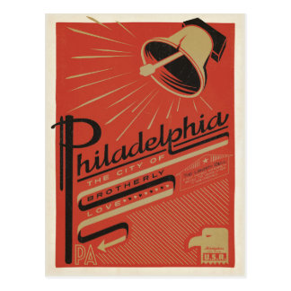 Philadelphia, PA - Brotherly Love Postcard