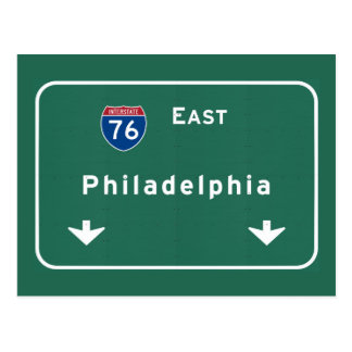 Philadelphia pa Interstate Highway Freeway Road : Postcard