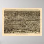 Philadelphia, PA Panoramic Map - 1872 Poster