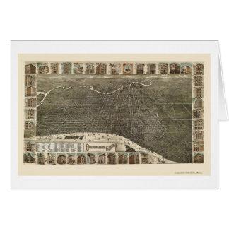Philadelphia, PA Panoramic Map - 1886 Card