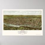 Philadelphia, PA Panoramic Map - 1907 Poster
