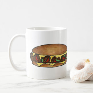 Philadelphia PA Philly Cheese Steak Sandwich Food Coffee Mug